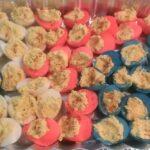 Red, White, & Blue Deviled Eggs | #Recipe
