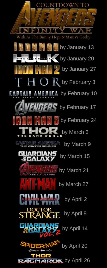 New Countdown To Infinity War Calendar