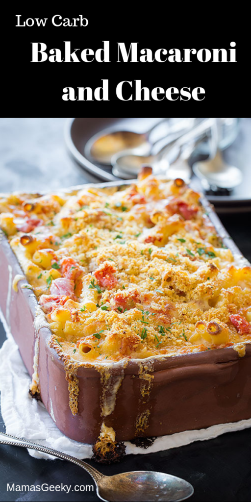 Low Carb Baked Macaroni and Cheese