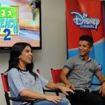 Chatting with Chrissie Fit & Jordan Fisher <p> {#TeenBeach2Event}