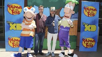 "PHINEAS, DAN POVENMIRE (CO-CREATOR/EXECUTIVE PRODUCER, ""PHINEAS AND FERB""), JEFF ""SWAMPY"" MARSH (CO-CREATOR/EXECUTIVE PRODUCER, ""PHINEAS AND FERB""), FERB"