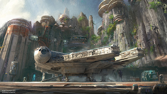 millenium falcon ride