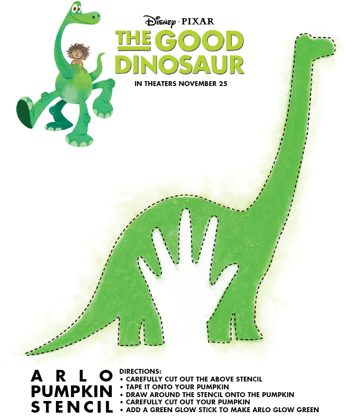 The Good Dinosaur Stencil