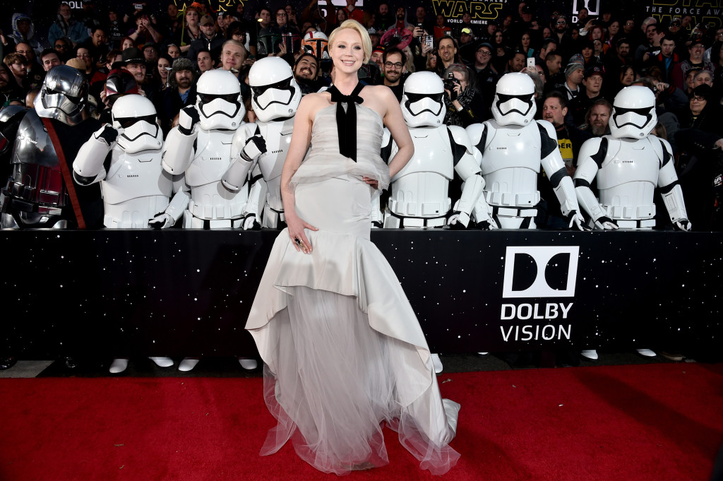 HOLLYWOOD, CA - DECEMBER 14: Actress Gwendoline Christie attends the World Premiere of ?Star Wars: The Force Awakens? at the Dolby, El Capitan, and TCL Theatres on December 14, 2015 in Hollywood, California. (Photo by Alberto E. Rodriguez/Getty Images for Disney) *** Local Caption *** Gwendoline Christie