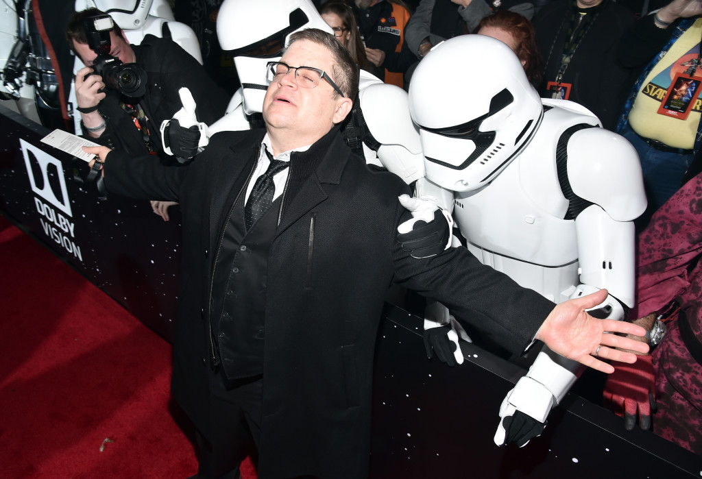 HOLLYWOOD, CA - DECEMBER 14: Comedian Patton Oswalt attends the World Premiere of ?Star Wars: The Force Awakens? at the Dolby, El Capitan, and TCL Theatres on December 14, 2015 in Hollywood, California. (Photo by Alberto E. Rodriguez/Getty Images for Disney) *** Local Caption *** Patton Oswalt