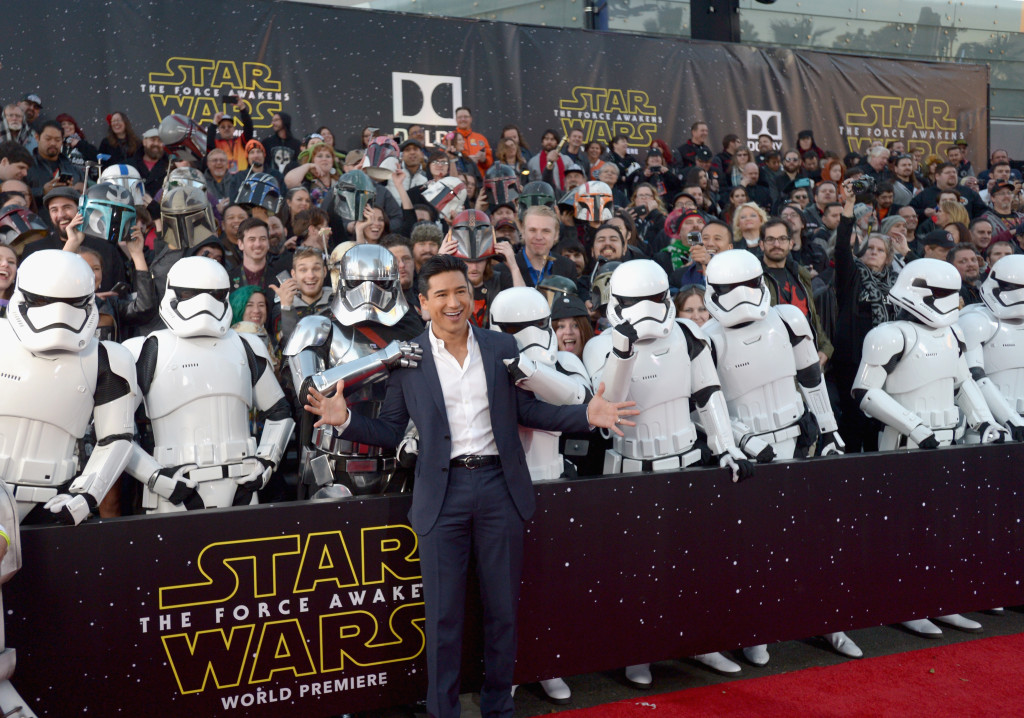 HOLLYWOOD, CA - DECEMBER 14: Actor Mario Lopez attends the World Premiere of ?Star Wars: The Force Awakens? at the Dolby, El Capitan, and TCL Theatres on December 14, 2015 in Hollywood, California. (Photo by Charley Gallay/Getty Images for Disney) *** Local Caption *** Mario Lopez