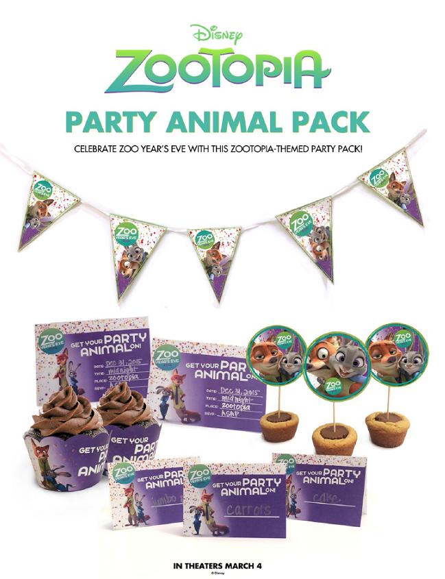 Zootopia Party Animal New Years Eve Party Pack