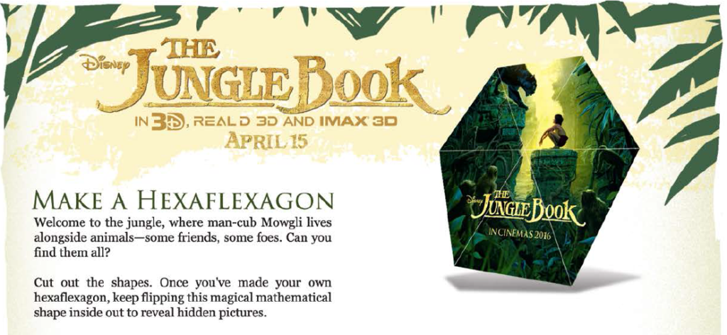 The Jungle Book Hexaflexagon