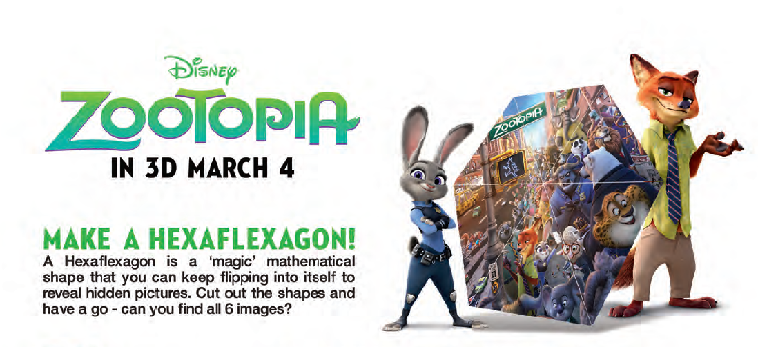 Zootopia Hexaflexagon