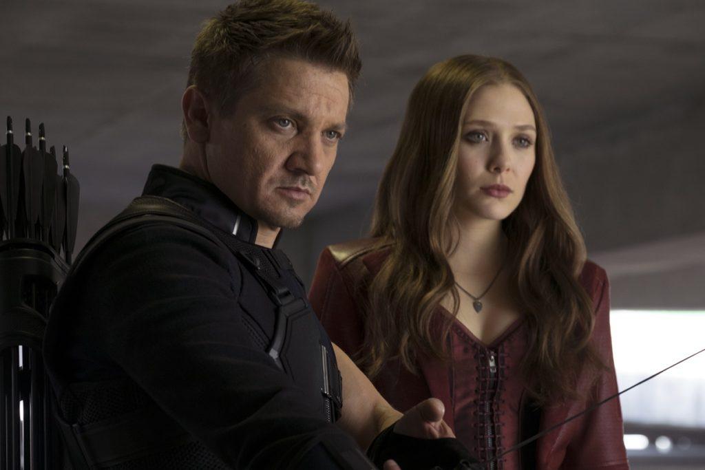 Jeremy Renner Hawkeye Scarlet Witch Elizabeth Olsen