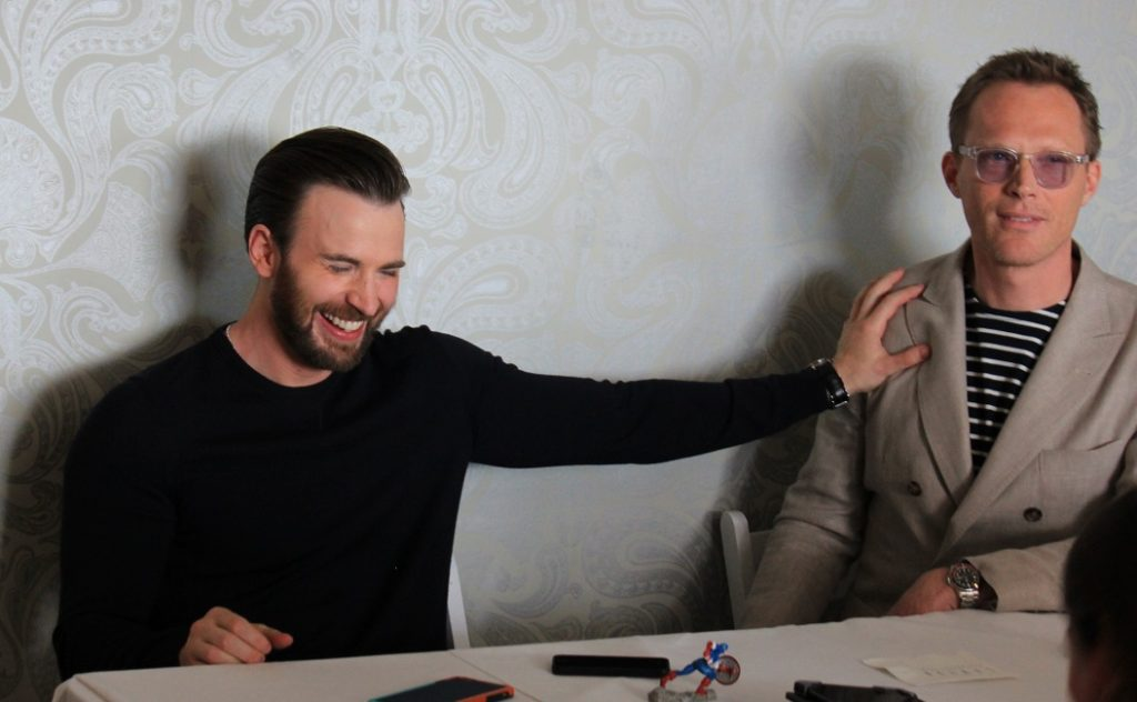 Chris Evans & Paul Bettany