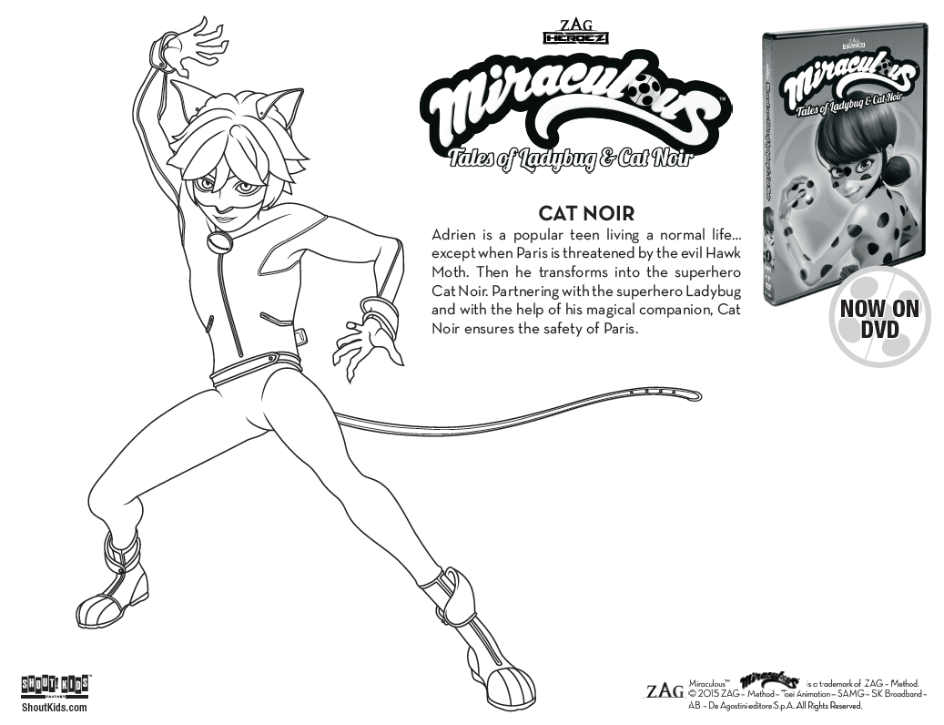 Miraculous: Tales Of Ladybug & Cat Noir Coloring Sheets