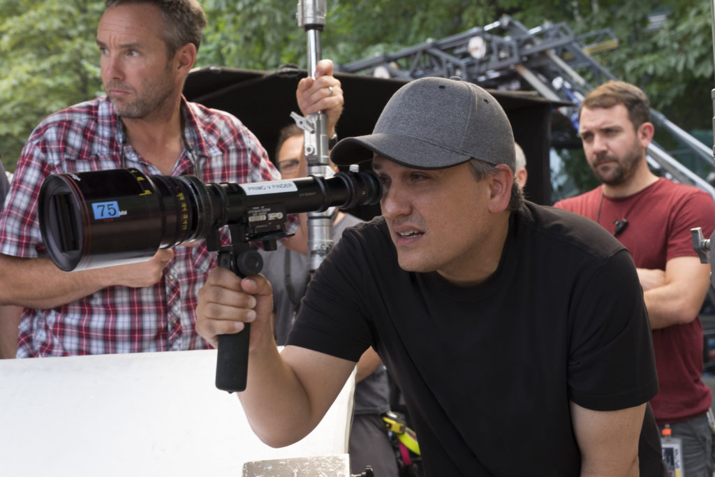 Captain America: Civil War Director Joe Russo on set. Ph: Zade Rosenthal ©Marvel 2016