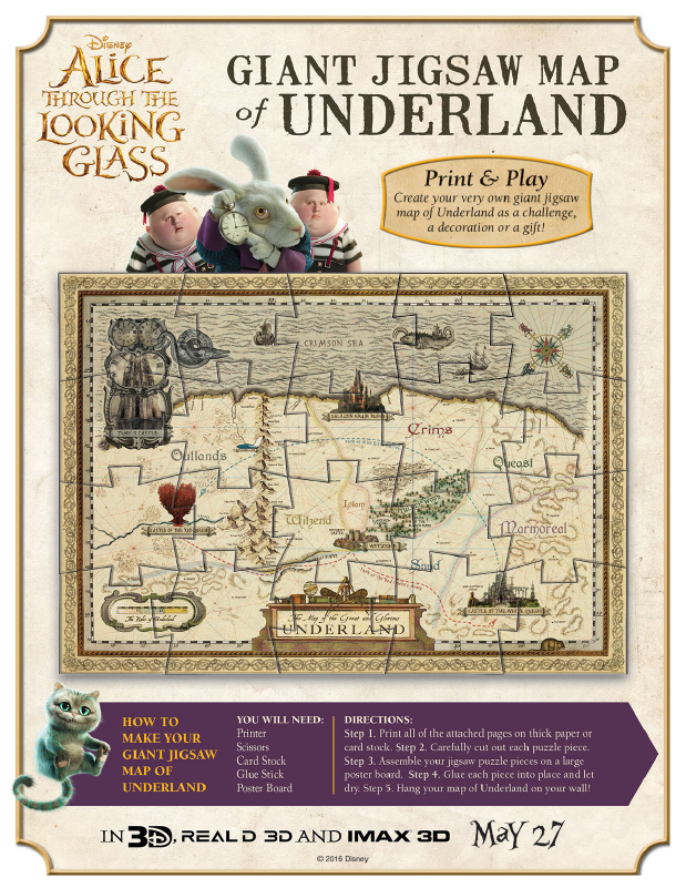 Giant Jigsaw Map of Underland