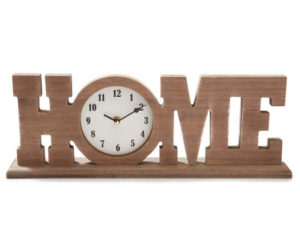 Home Wooden Table Top Clock