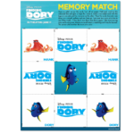 Finding Dory Printable Activity Sheets: Memory Game & More!