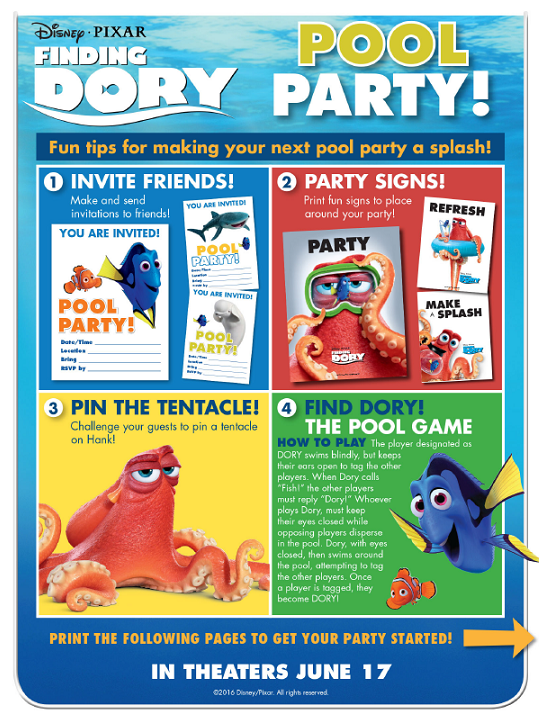 Finding Dory Pool Party Kit