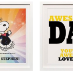 Customizable Peanuts Art Print for Dads or Grads! | #Giveaway #Peanuts
