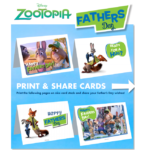 Celebrate Father's Day with Zootopia Printable Cards | #Zootopia #Disney