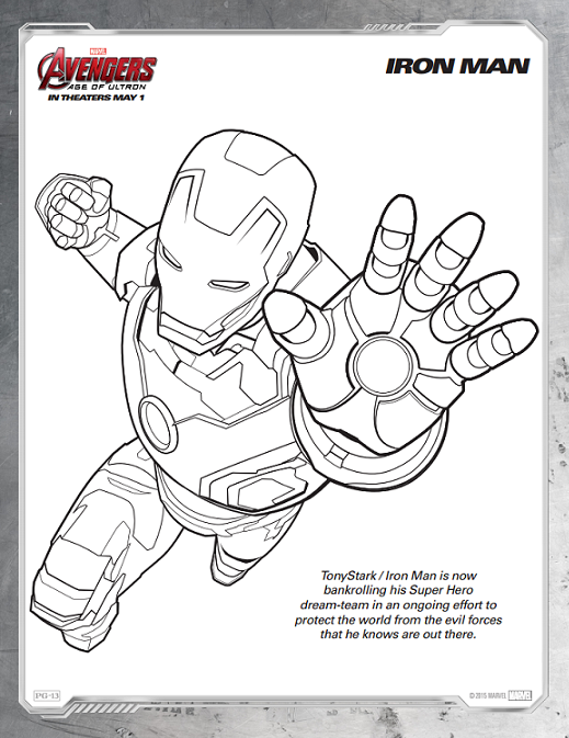 Avengers Coloring Sheets