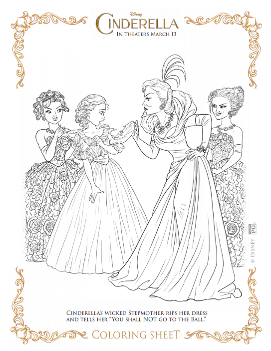 Cinderella Coloring Sheets