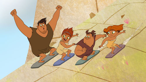 It's a race to the finish line as the Croods discover a gnarly new family activity: slateboarding. Catch up with the Croods and the rest of the Ahhh! Valley crew when Season 2 of Dawn of the Croods premieres August 26, on Netflix.