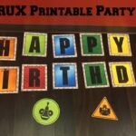 DINOTRUX Print at Home Party Pack including Games, Activities, & More