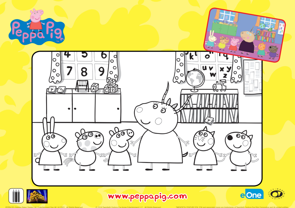 Peppa Pig Classromm Coloring