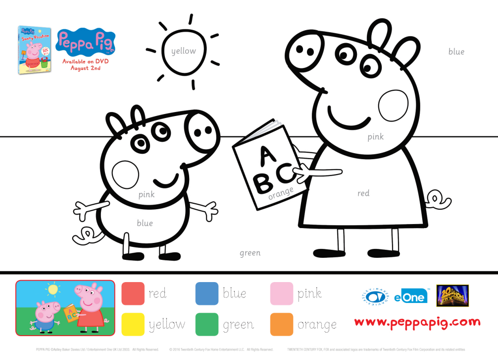 Peppa Pig Color By Number