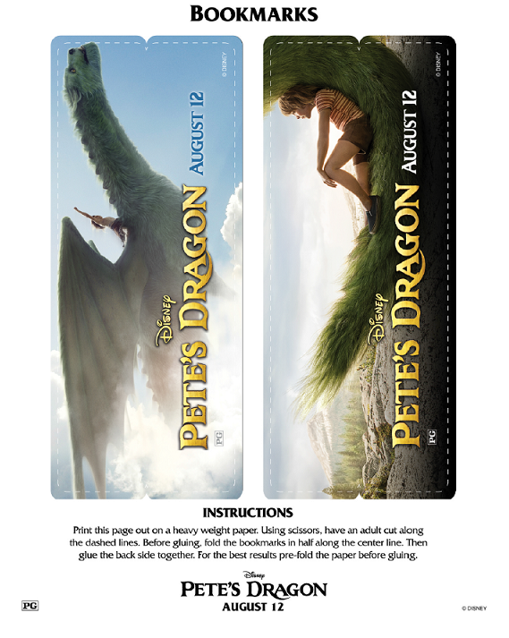 Petes Dragon Bookmarks