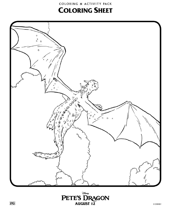 Petes Dragon Coloring Pages