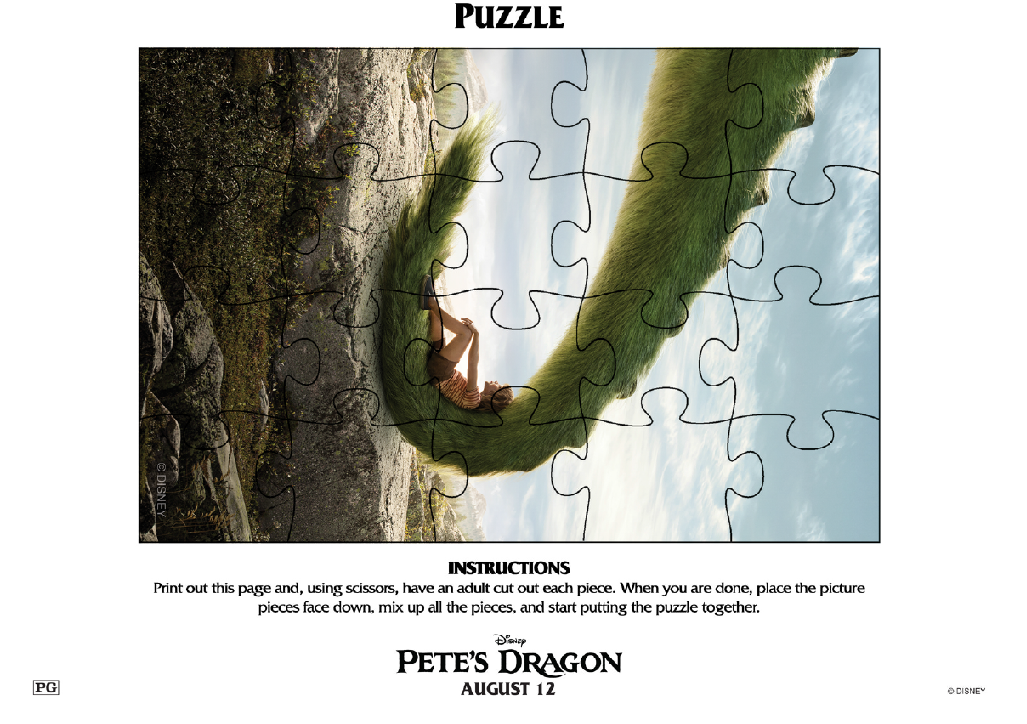 Petes Dragon Puzzle