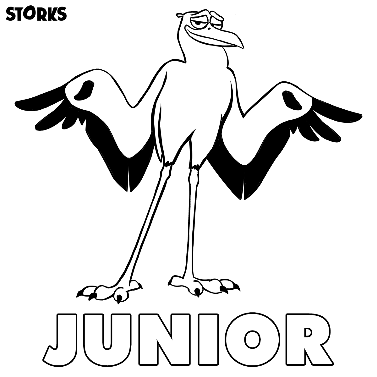 stork with baby coloring pages - photo#30