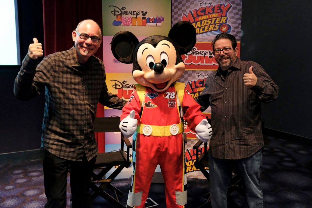 Mark Seidenberg and Rob Laduca with Mickey