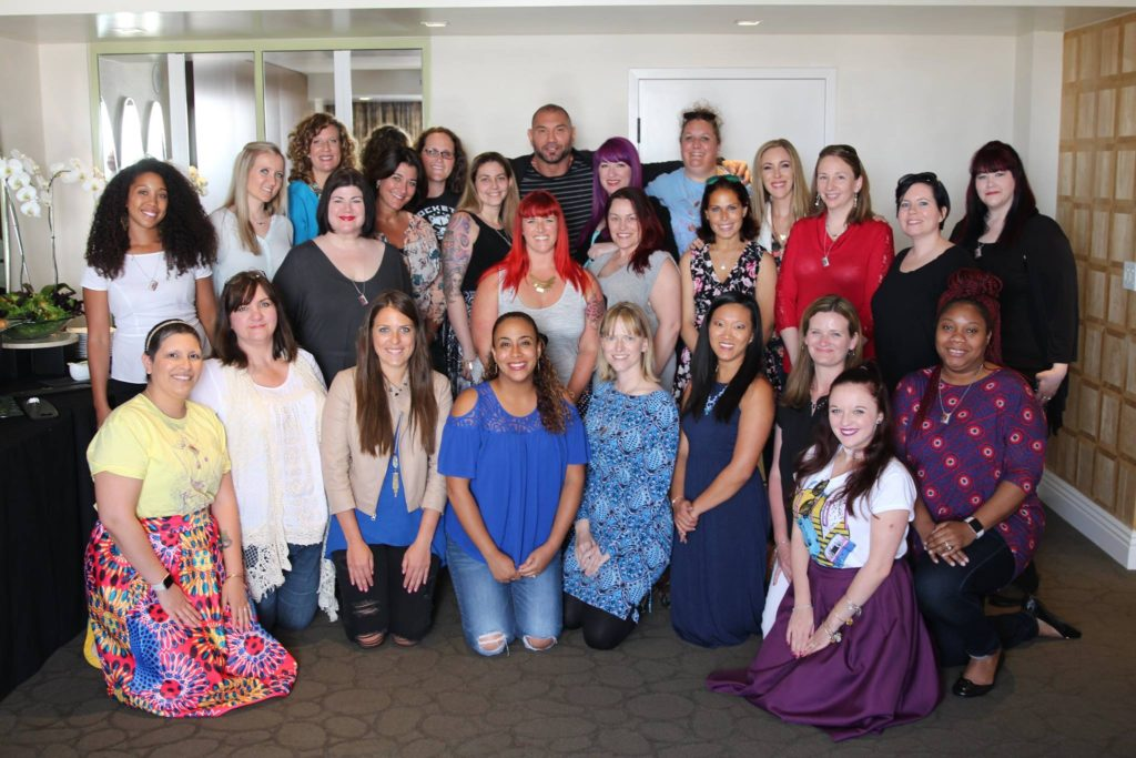 Mom Bloggers with Dave Bautista - Guardians of the Galaxy Volume 2 Interview