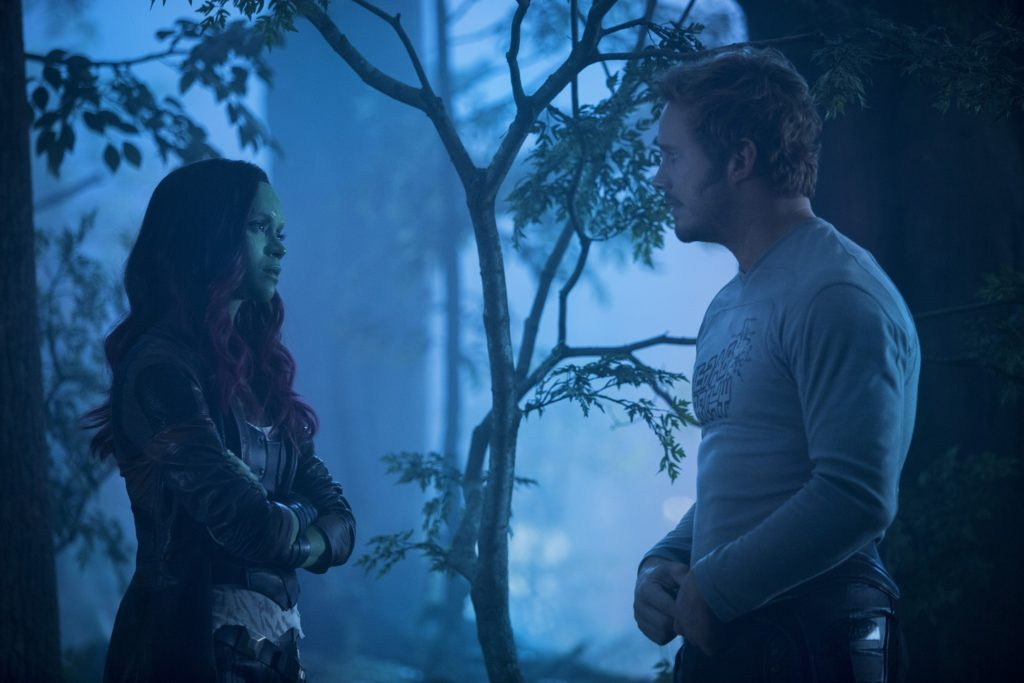 Gamora and Star-Lord Guardians of the Galaxy