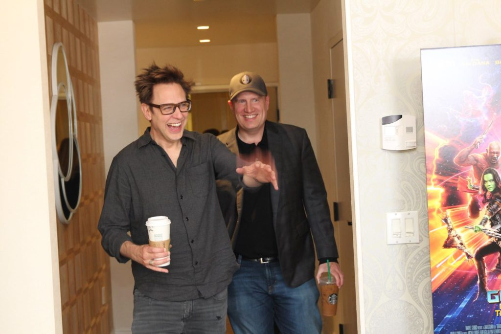 James Gunn and Kevin Feige Guardians of the Galaxy Vol 2