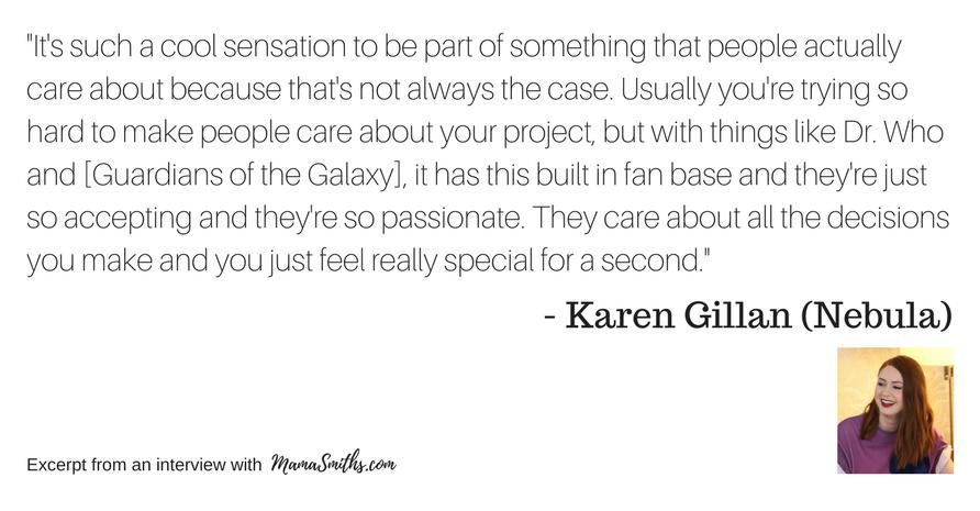 Karen Gillan Quote on Fandom