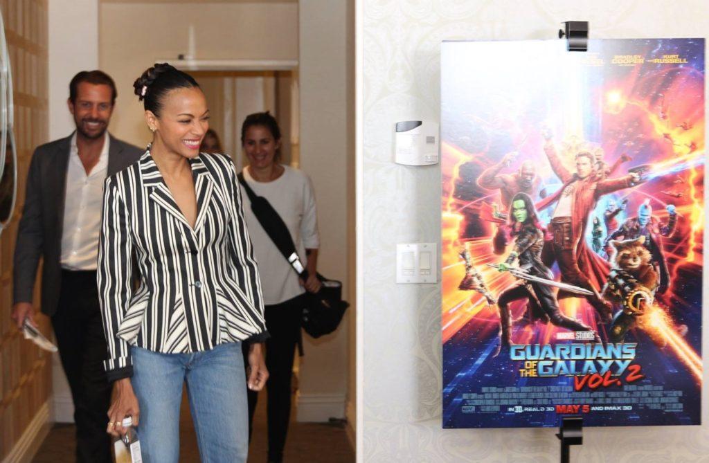 Zoe Saldana/Gamora Guardians of the Galaxy Vol 2
