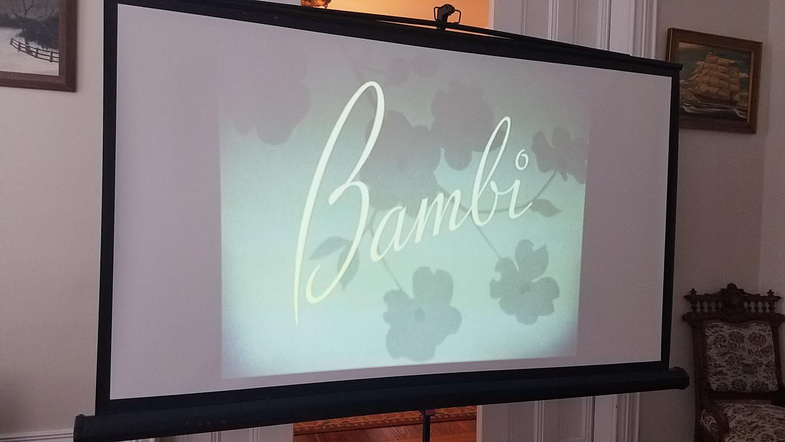bambi movie night indoors