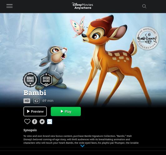 disney movies anywhere bambi