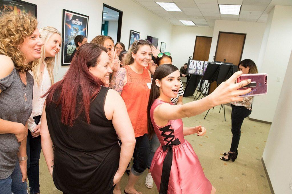 Sofia Carson Taking Video Descendants 2