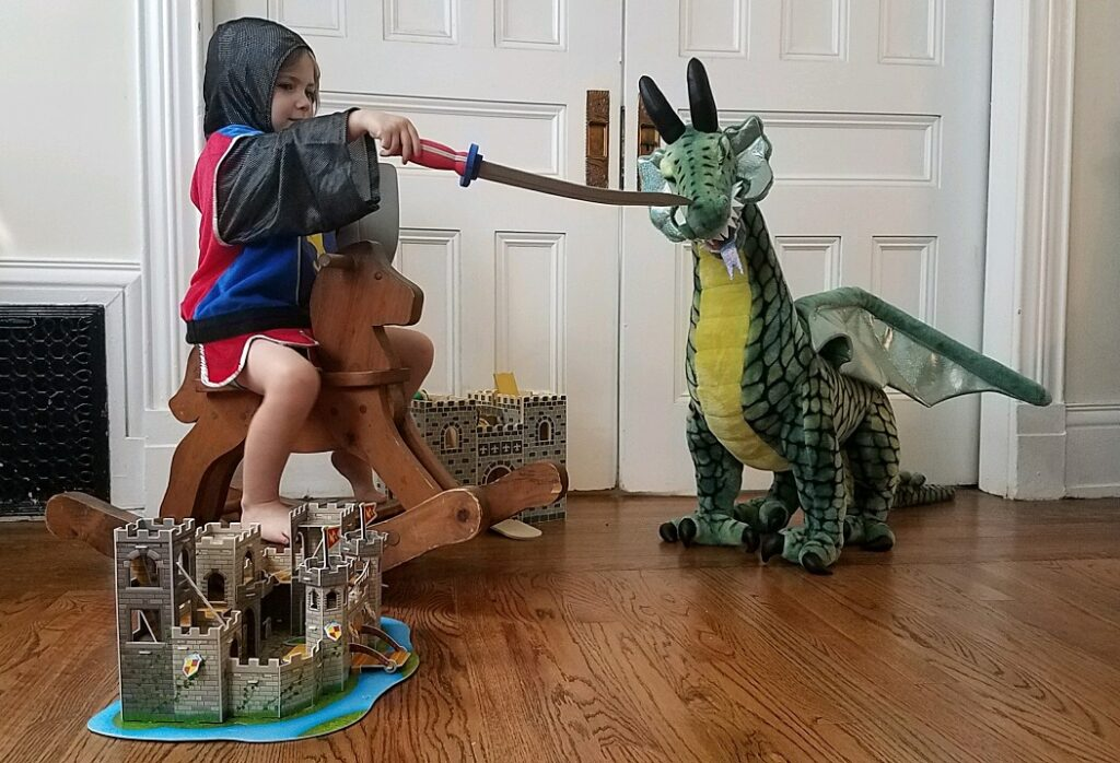 Melissa and Doug Knight Dragon Battle Renaissance Faire at home