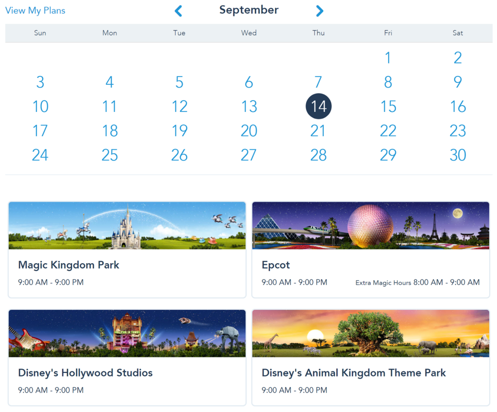 disney world fastpasses calendar