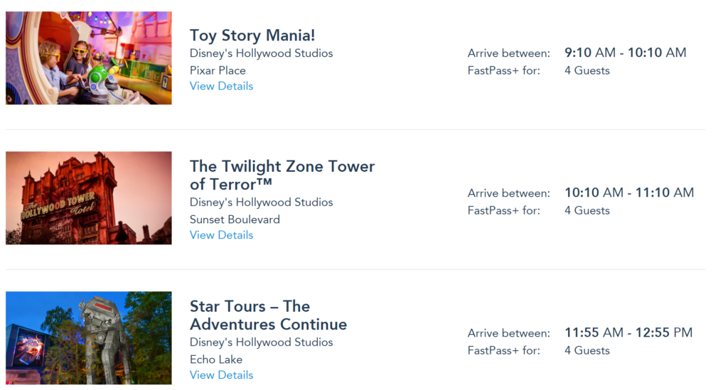 Disney World fastpasses