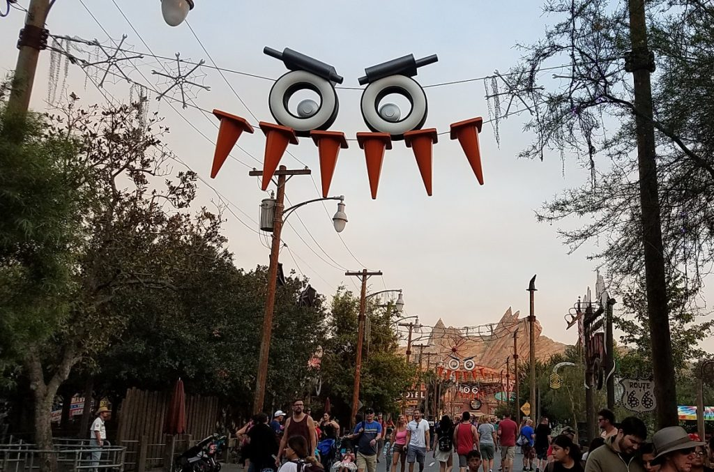 Cars Land Haul-o-Ween Disneyland decorations