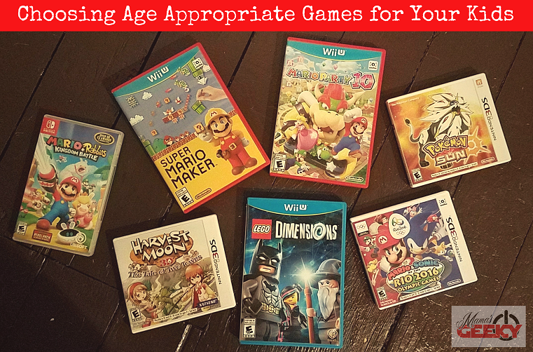 Choosing Age Appropriate Games for Your Kids