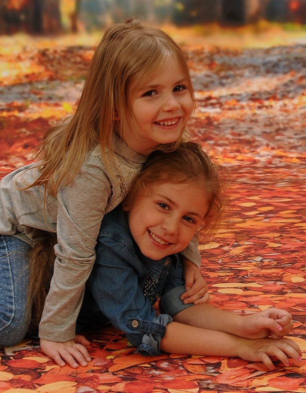 Ivy and Lorie Fall Photo