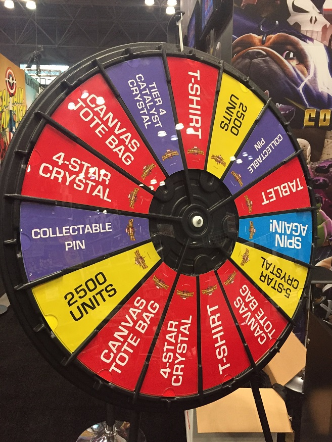 Marvel NYCC Prize Wheel