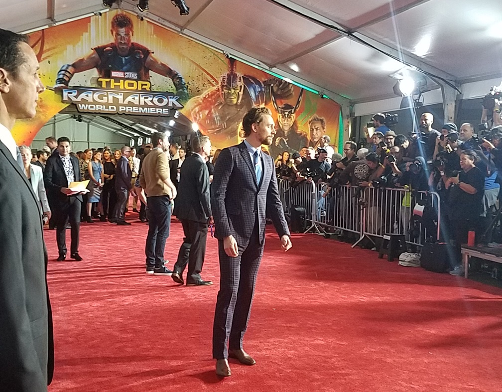 Tom Hiddleston on the Thor Ragnarok red carpet